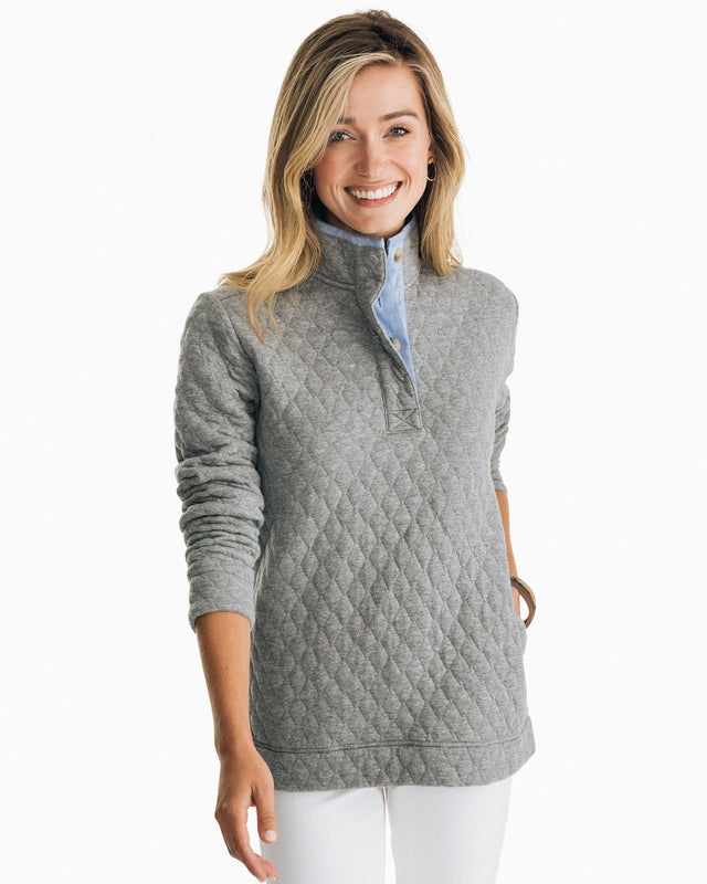 Quilted Pullover | Southern Tide