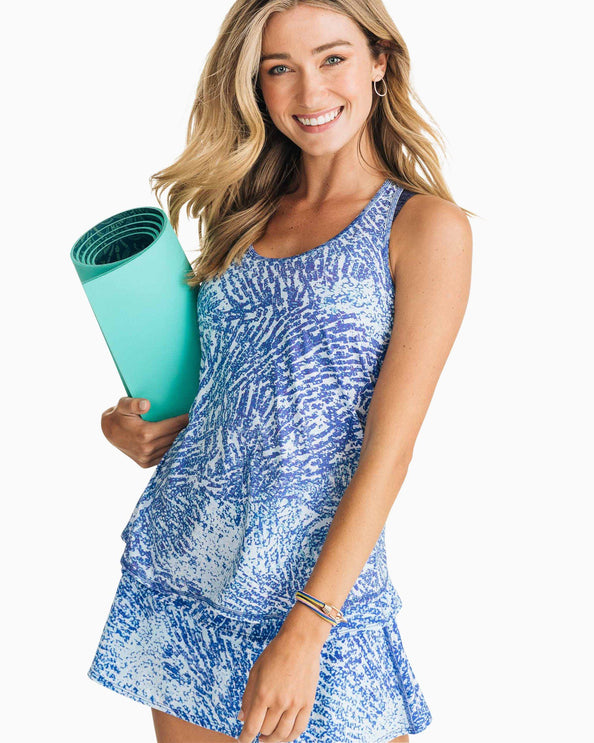Racerback Patterned Active Tank