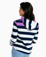 The front view of the Women's Rosie Striped Hoodie by Southern Tide