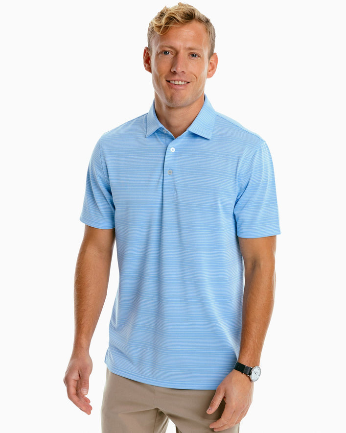 Roster Calero Striped Performance Polo Shirt