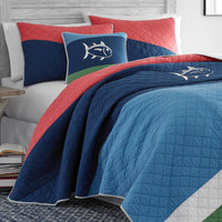 Sailor Striped Quilt | Southern Tide