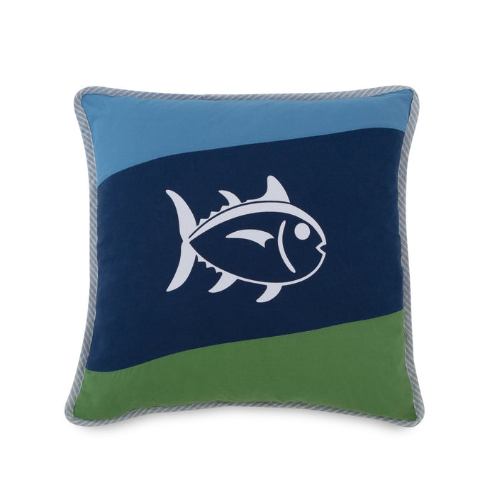Sailor Striped Square Throw Pillow