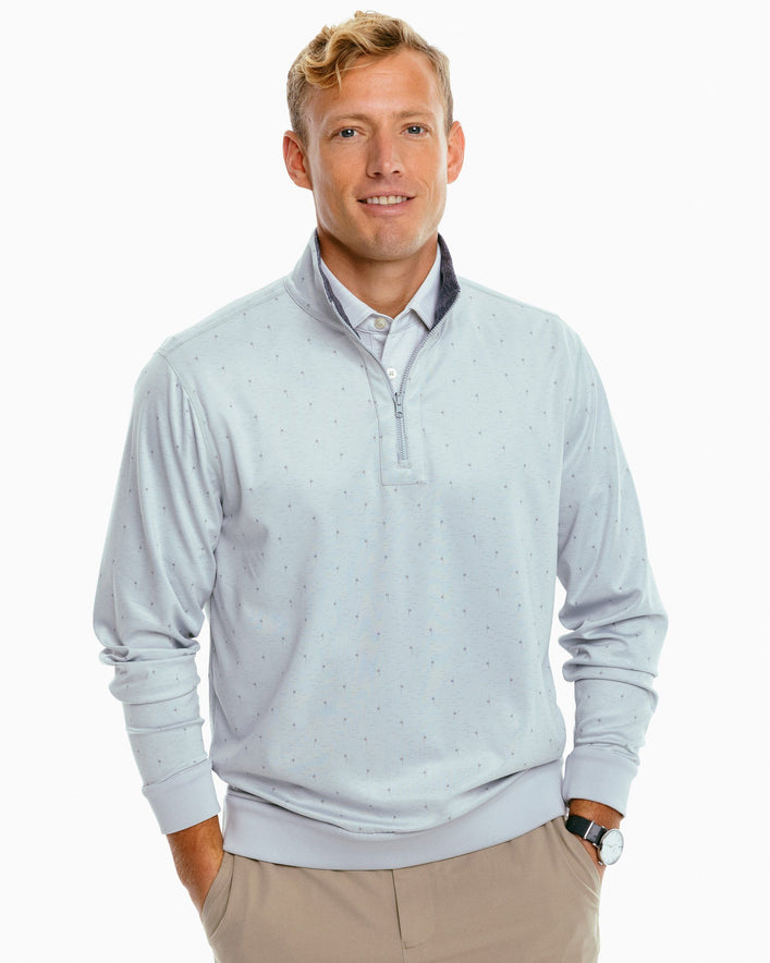 Sangrillo Heather Reversible Performance Quarter Zip Pullover