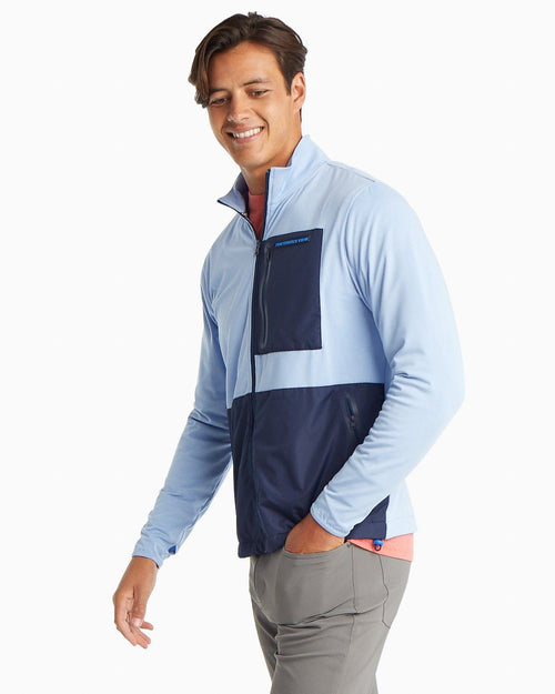 Sea Foam Performance Zip Up Jacket | Southern Tide