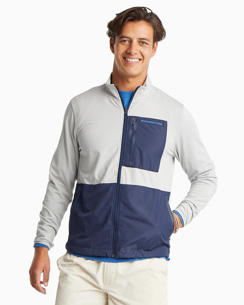 Sea Foam Performance Full Zip Up Jacket | Southern Tide