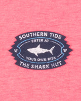The back view of the Men's Pink Shark Shack T-Shirt by Southern Tide