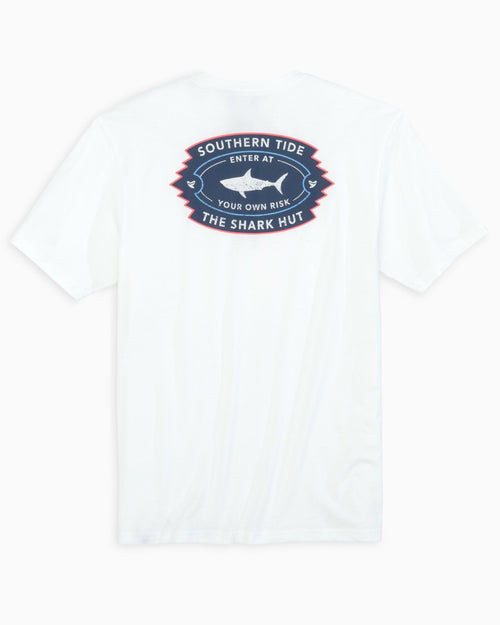 The back view of the Men's White Shark Shack T-Shirt by Southern Tide