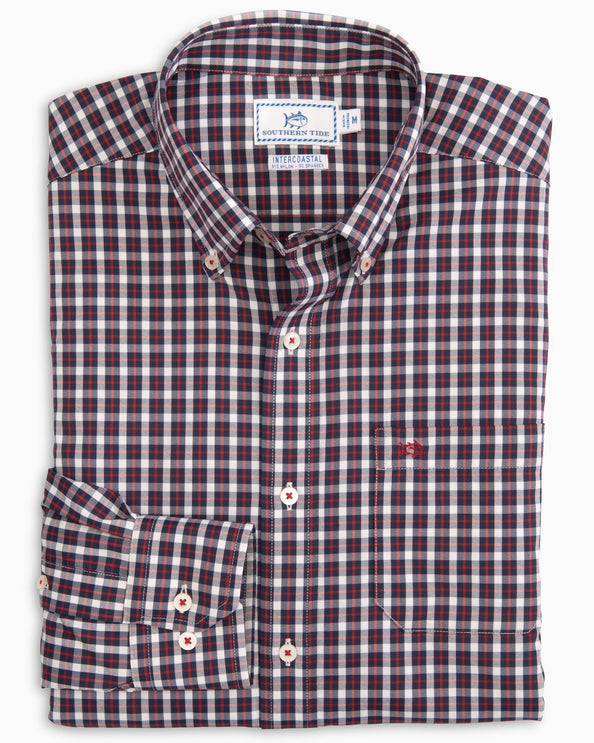 Ship Rig Gingham Intercoastal Performamance Sport Shirt
