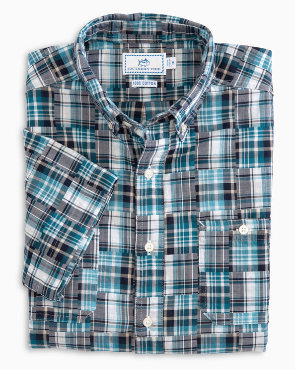Short Sleeve Patchwork Dock Shirt
