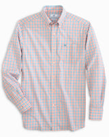 The folded view of the Men's Skipjack Micro Multicheck Button Down Shirt by Southern Tide