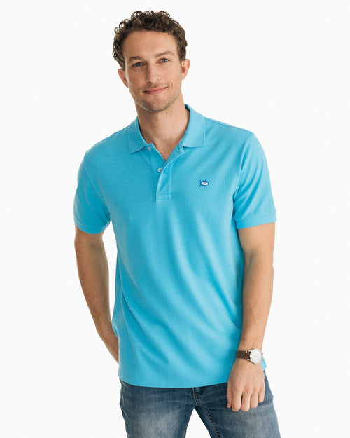 The front of the Men's Skipjack Polo Shirt by Southern Tide