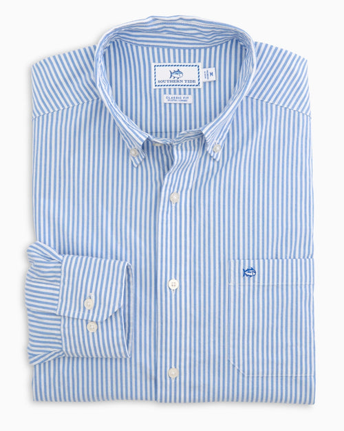 Skipjack Seersucker Striped Sport Shirt | Southern Tide