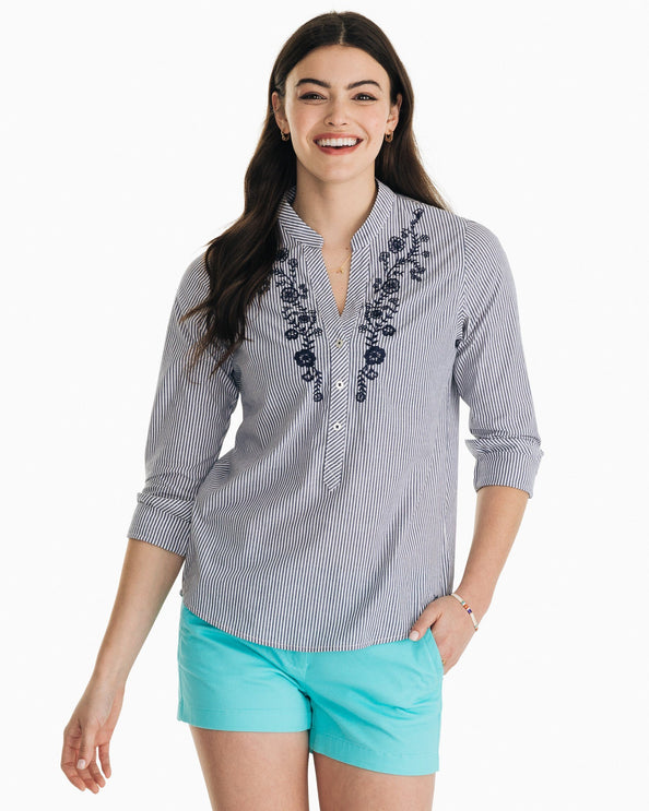 Samantha Embroidered Popover Shirt