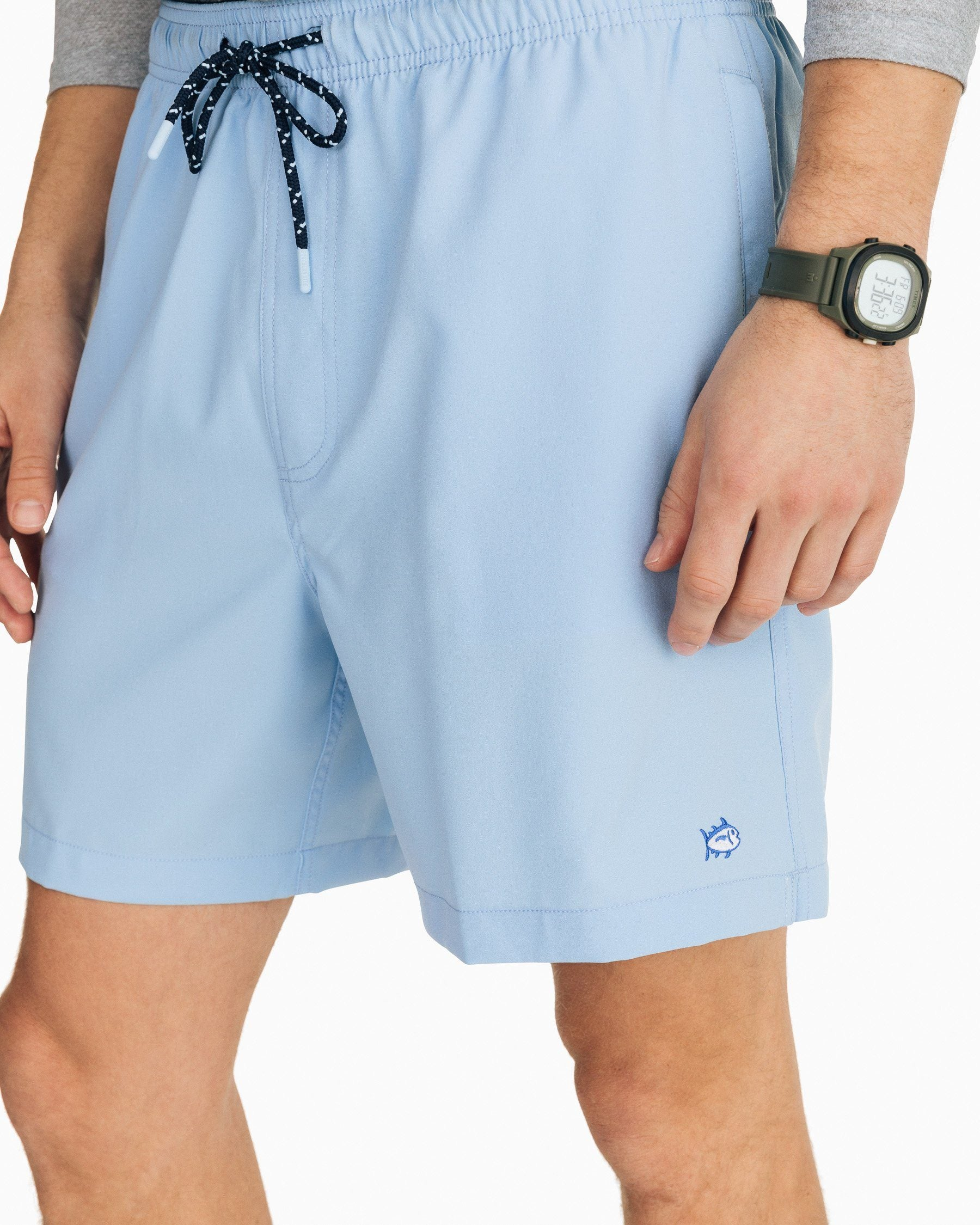 Water Nature Forest Mens Beach Shorts Linen Casual Fit Short Swim Trunks