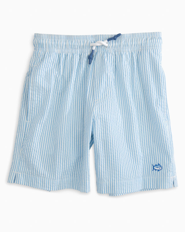 Boys Seersucker Swim Trunk | Southern Tide