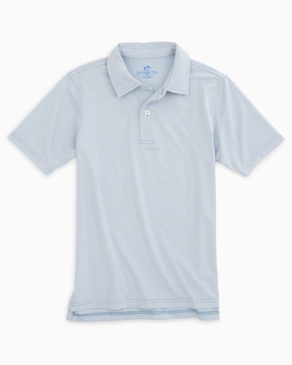 Image of Boys Fairway Dunes Stripe Performance Polo