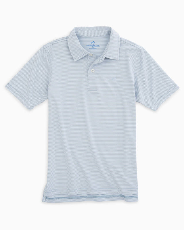 Boys Fairway Dunes Stripe Performance Polo | Southern Tide