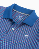 Boys Fireworks Performance Striped Polo Shirt | Southern Tide