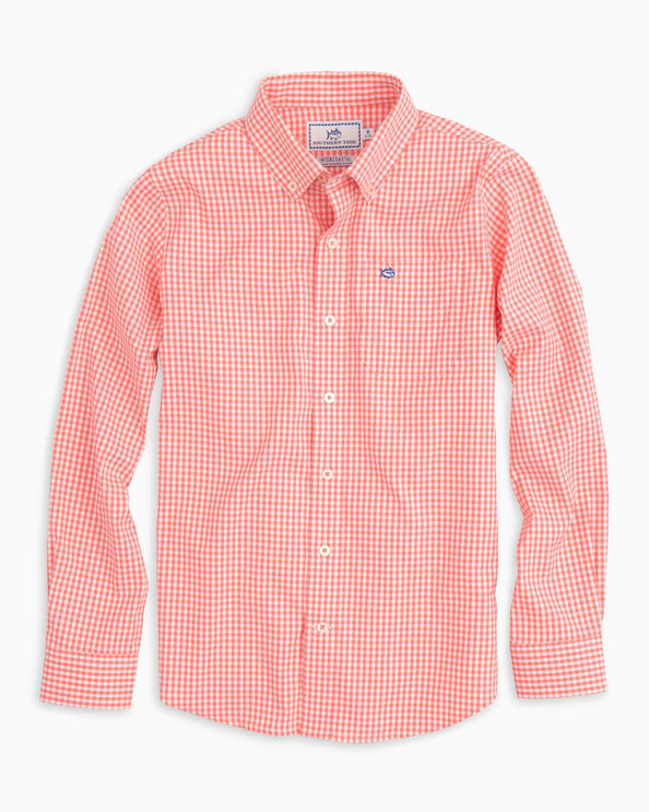 Boys Intercoastal Gingham Shirt