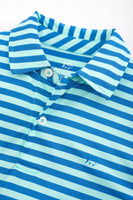 Boys Hangout Performance Striped Polo Shirt | Southern Tide