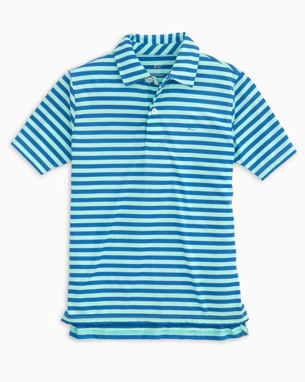 Boys Hangout Performance Striped Polo Shirt