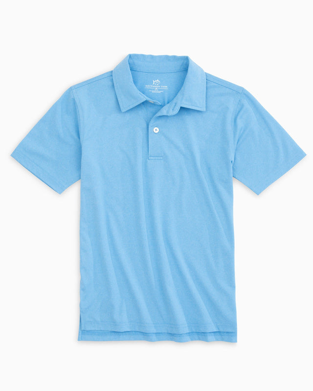 Boys Heathered Performance Polo | Southern Tide