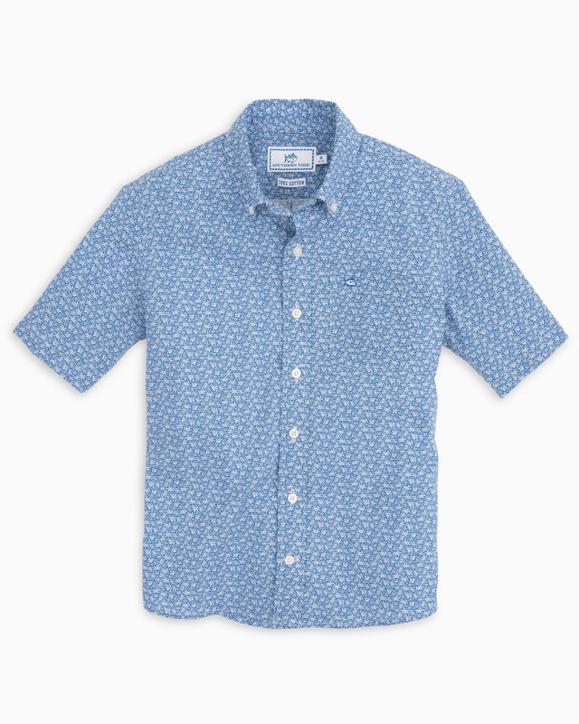 Boys Sea Turtles Short Sleeve Sport Shirt | Southern Tide