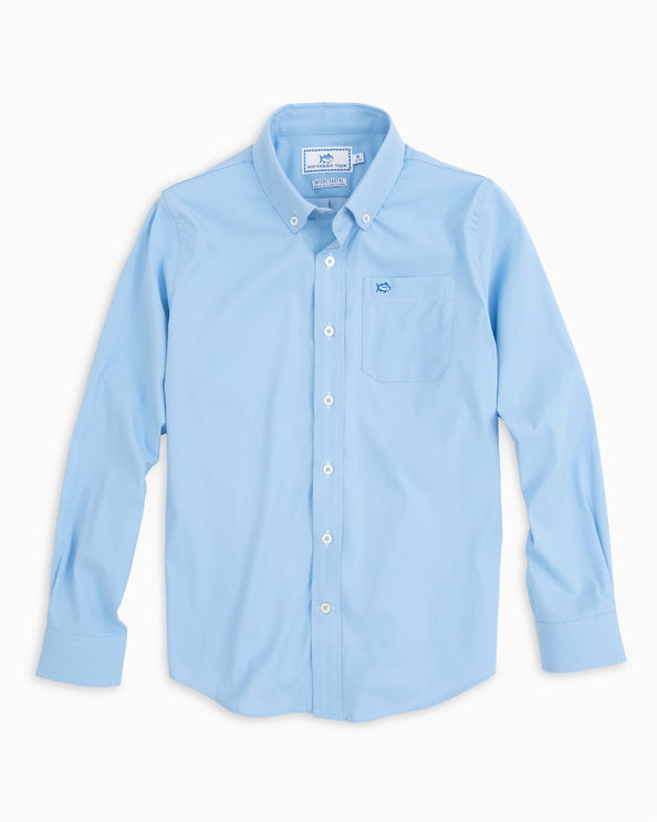 Boys Intercoastal Solid Button Down Shirt
