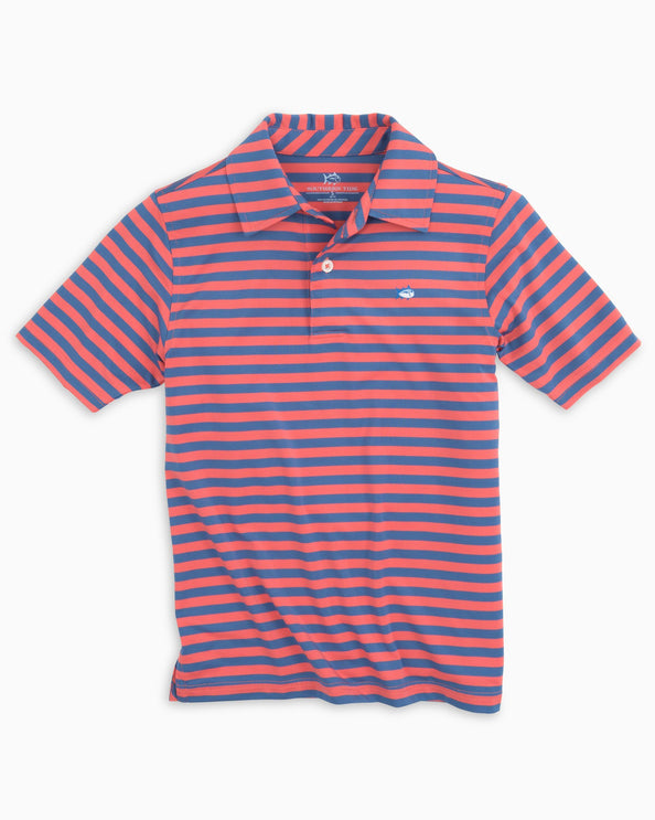 9fe0cfdaa Boys Sonar Performance Striped Polo Shirt
