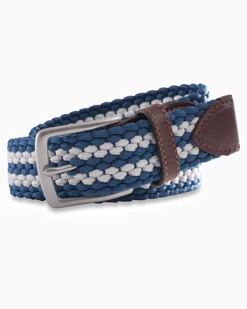 Braided Elastic Striped Web Belt | Southern Tide