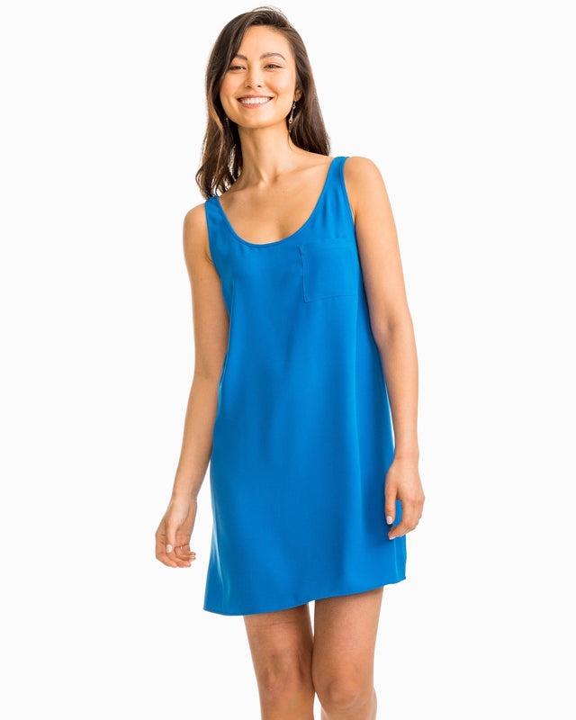 Carly Blue Tank Dress | Southern Tide