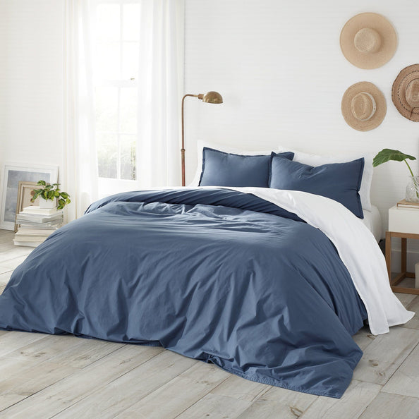 Coastline Garment Washed Comforter Set