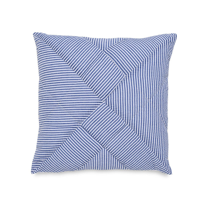 Dover Beach Quilted Seersucker Decorative Pillow