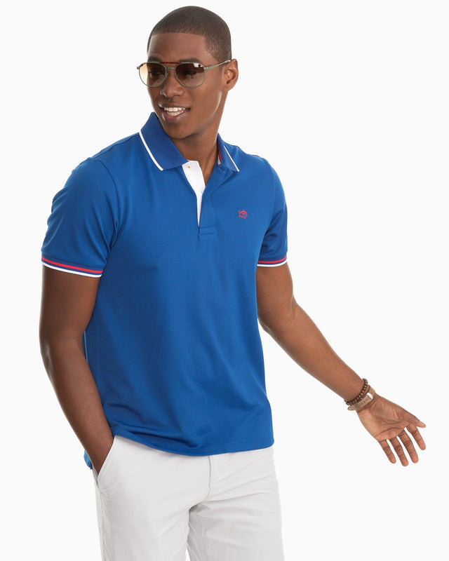 Festive Jack Performance Pique Polo Shirt | Southern Tide