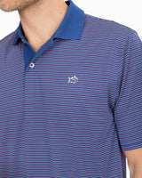 Fireworks Performance Striped Polo Shirt | Southern Tide
