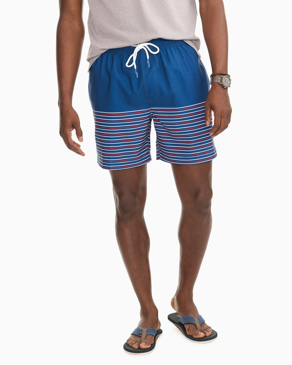 Fireworks Stripe Swim Trunks