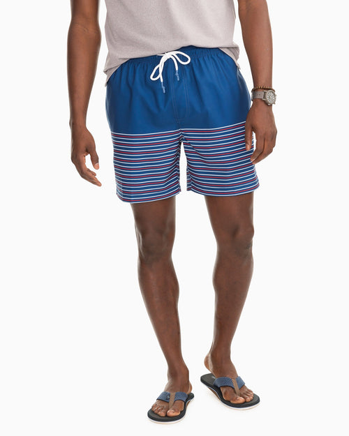 Fireworks Stripe Swim Trunks | Southern Tide