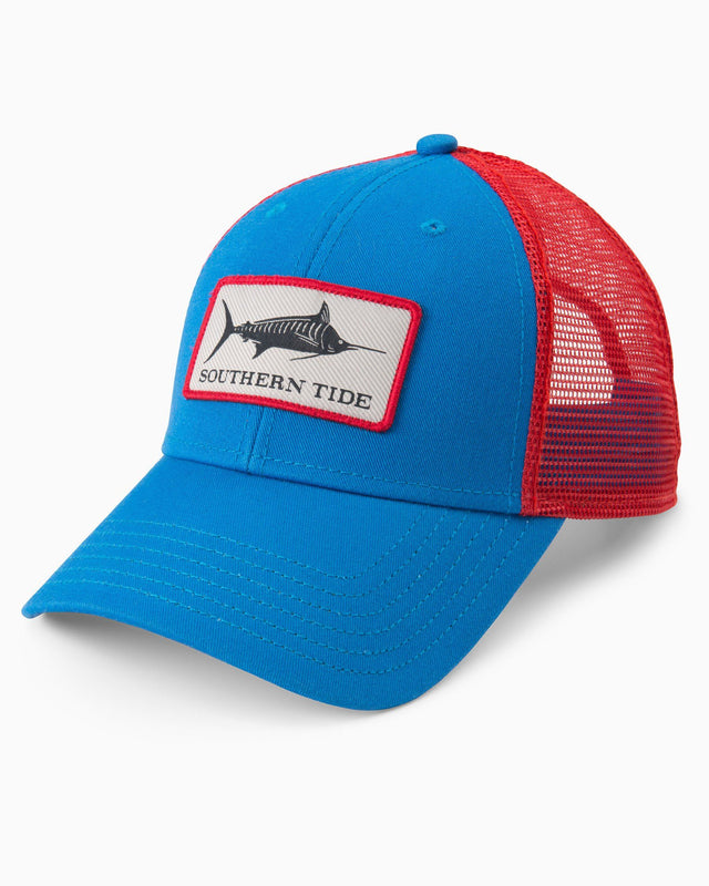 Fish Series Blue Marlin Patch Trucker Hat | Southern Tide