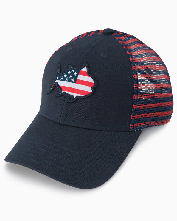 Image of Flag Skipjack Striped Trucker Hat