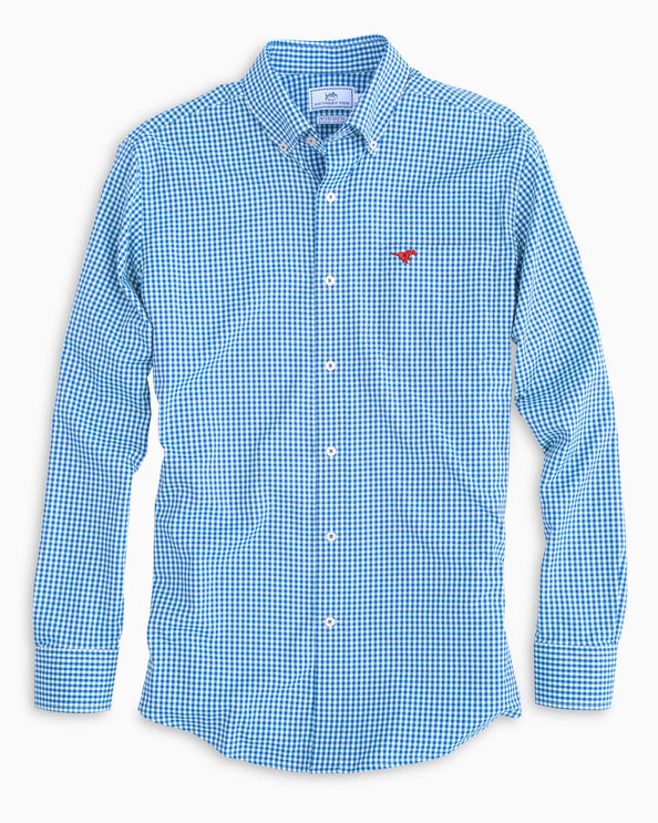 SMU Mustangs Gingham Shirt