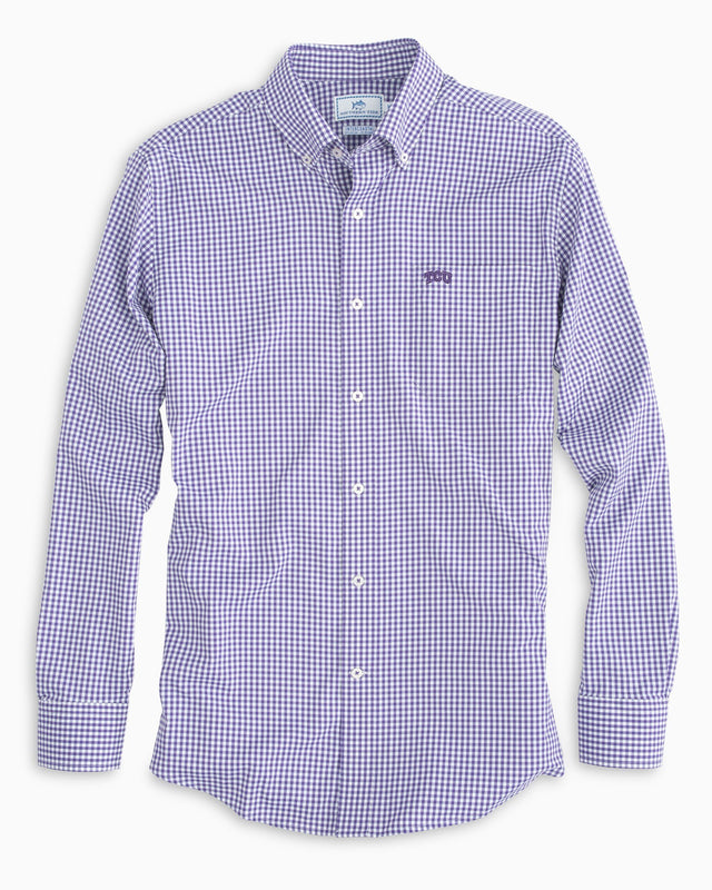 Gameday Gingham Intercoastal Performance Shirt - Texas Christian University | Southern Tide