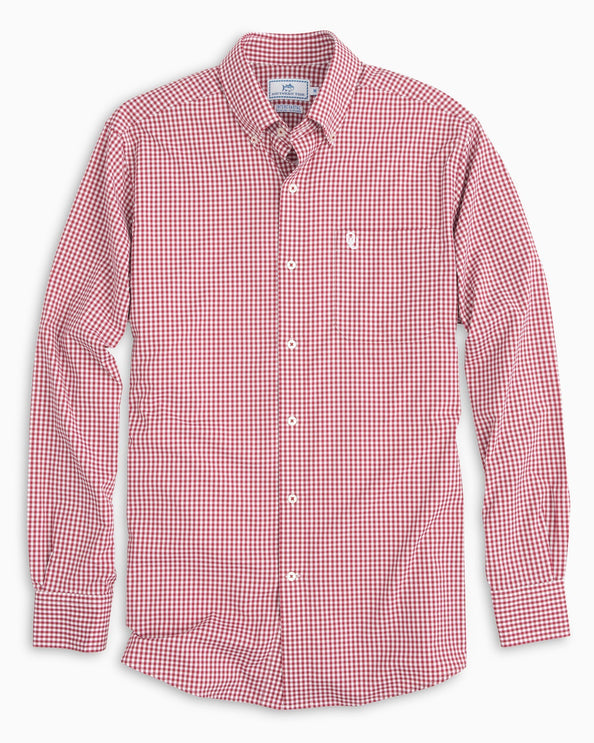 Oklahoma Sooners Gingham Button Down Shirt