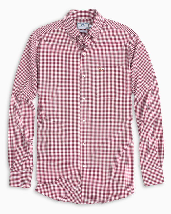 Virginia Tech Hokies Gingham Button Down Shirt