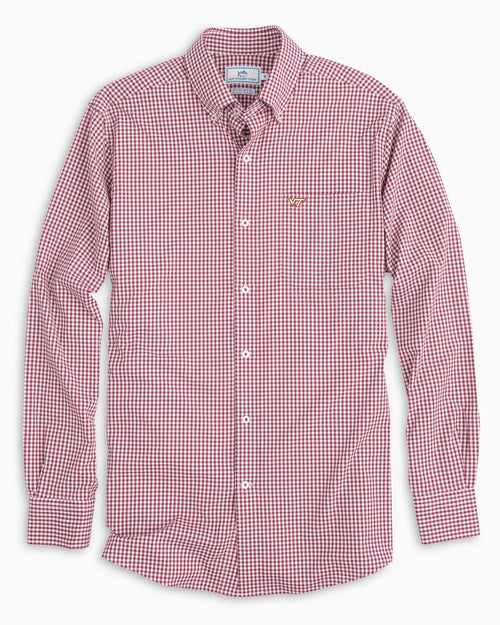 Virginia Tech Hokies Gingham Button Down Shirt | Southern Tide