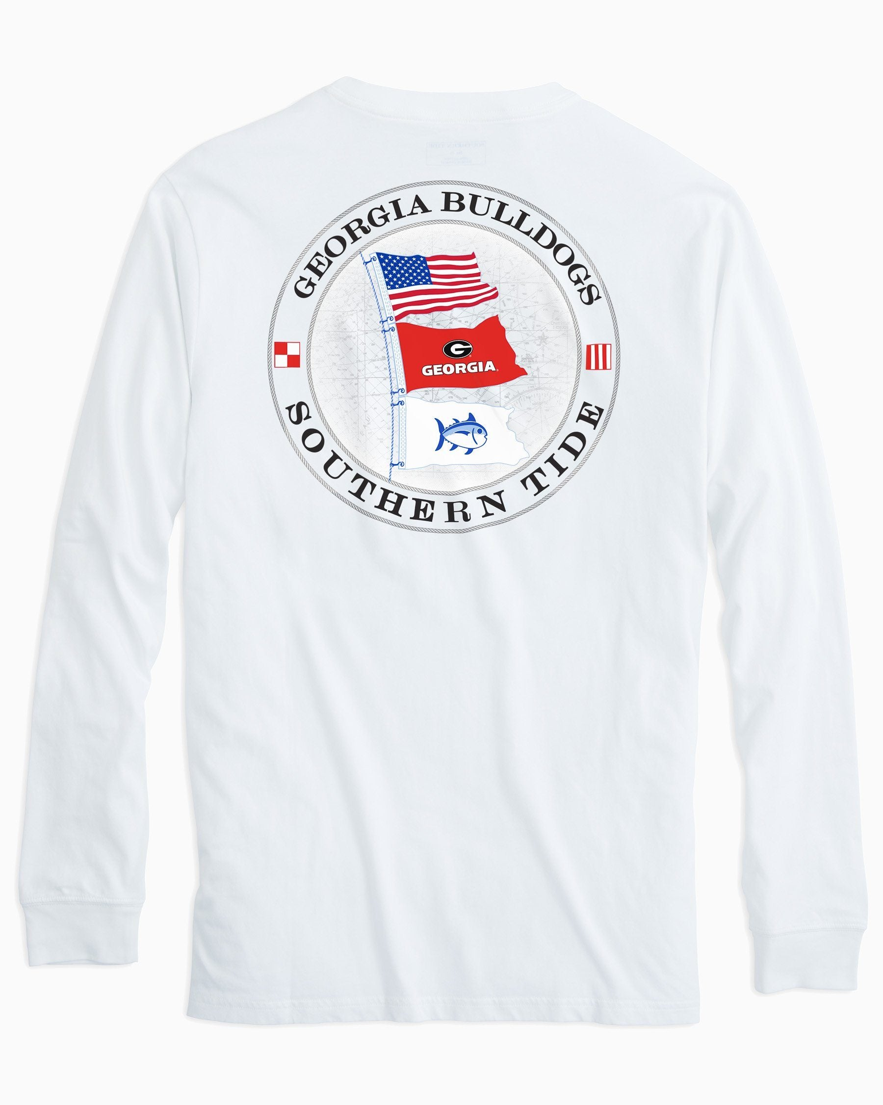 941ba453ae59 Georgia Bulldogs Flags Long Sleeve T-Shirt | Southern Tide