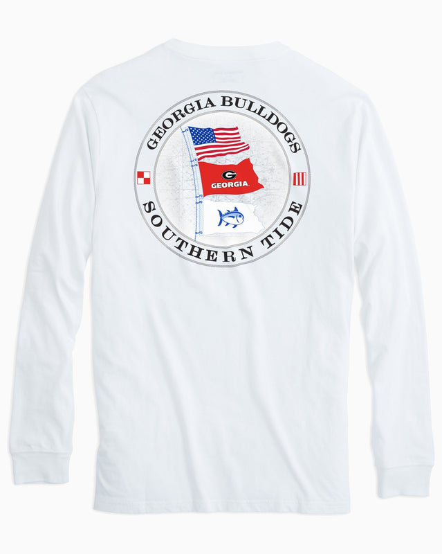 Gameday Nautical Flags Long Sleeve T-shirt - University of Georgia | Southern Tide