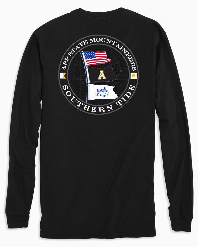 Gameday Nautical Flags Long Sleeve T-shirt - Appalachian State University | Southern Tide