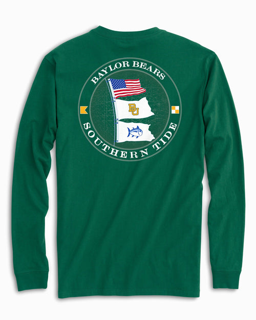 Baylor Bears Flags Long Sleeve T-Shirt