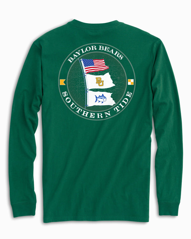 Baylor Bears Flags Long Sleeve T-Shirt | Southern Tide