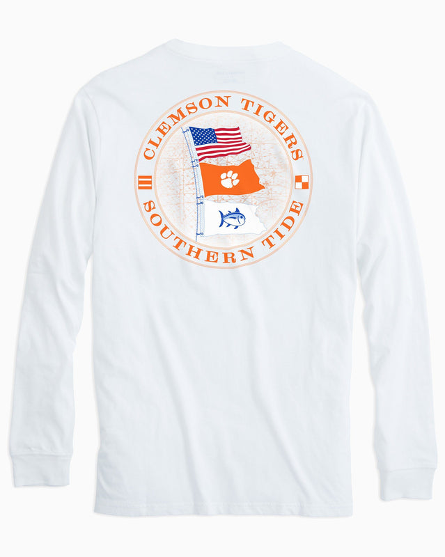 Gameday Nautical Flags Long Sleeve T-shirt - Clemson University | Southern Tide